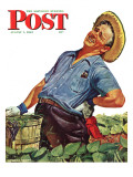 """Victory Garden "" Saturday Evening Post Cover  August 7  1943"