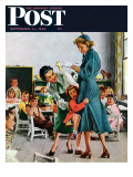 """""""Separation Anxiety """" Saturday Evening Post Cover  September 11  1948"""