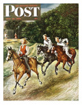 """""""Sailors on Girl Chase """" Saturday Evening Post Cover  July 10  1948"""