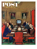 """""""Baseball in the Boardroom """" Saturday Evening Post Cover  October 8  1960"""