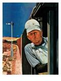 """Freight Train Engineer "" June 3  1944"