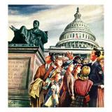 """Tourists in Washington D C "" August 7  1948"