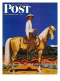 """""""Cowboy on Palomino """" Saturday Evening Post Cover  September 18  1943"""
