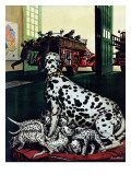 """Dalmatian and Pups "" January 13  1945"