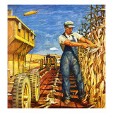 """Corn Harvest "" October 9  1948"