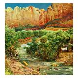 """""""Zion Canyon """" July 9  1960"""