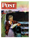 """Letter from Overseas "" Saturday Evening Post Cover  May 8  1943"
