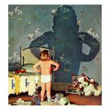 """Big Shadow, Little Boy,"" October 22, 1960 Giclée par Richard Sargent"