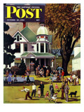 """Family Reunion "" Saturday Evening Post Cover  October 20  1945"