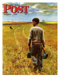 """""""Amber Waves of Grain """" Saturday Evening Post Cover  September 8  1945"""