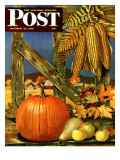 """""""Fall Harvest """" Saturday Evening Post Cover  October 27  1945"""