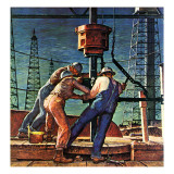 """Drilling for Oil "" November 9  1946"