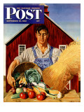 """Fall Bounty "" Saturday Evening Post Cover  September 25  1943"