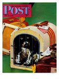 """Traveling Butch "" Saturday Evening Post Cover  July 15  1944"
