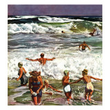 """Surf Swimming "" August 14  1948"