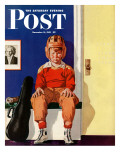 """Musical Sport "" Saturday Evening Post Cover  November 14  1942"