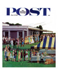 """Wedding Reception "" Saturday Evening Post Cover  June 9  1962"