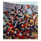 """Football Pile-up "" October 23  1948"