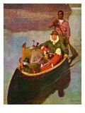 """Canoe Fishing Trip "" July 12  1947"
