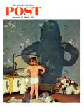 """Big Shadow, Little Boy,"" Saturday Evening Post Cover, October 22, 1960 Giclée par Richard Sargent"
