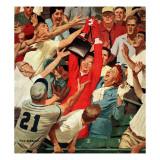 """Grandma Catches Fly-ball,"" April 23, 1960 Giclée par Richard Sargent"