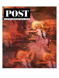 """Lido Chorus Girl "" Saturday Evening Post Cover  March 7  1964"