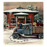 """Rural Post Office at Christmas "" December 13  1947"