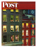 """""""Apartment Dwellers on New Year's Eve """" Saturday Evening Post Cover  January 3  1948"""