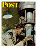 """Up Periscope! "" Saturday Evening Post Cover  April 22  1944"