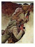 """Signal Corpsmen During Battle "" September 9  1944"