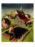 """""""Spring 1942,"""" April 18, 1942 Giclée par Grant Wood"""