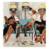"""""""Cowboy qui dort dans le salon de beauté"""", 6 Mai 1961 Giclée par Kurt Ard"""