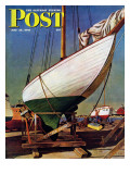 """Dry Dock "" Saturday Evening Post Cover  May 25  1946"