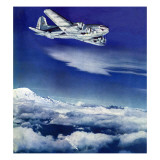 """""""Flight Above Clouds """" August 17  1940"""