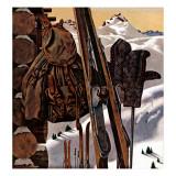 """Ski Equipment Still Life "" February 3  1945"