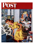 """Burnt Turkey "" Saturday Evening Post Cover  November 29  1947"