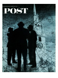 """Mafia in Boston "" Saturday Evening Post Cover  November 18  1967"