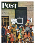 """Track 11 "" Saturday Evening Post Cover  June 21  1947"