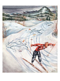 """""""Snow Skiier After the Falls """" January 25  1947"""