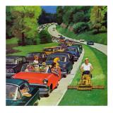"""""""Speeder on the Median,"""" June 2, 1962 Giclée par Richard Sargent"""