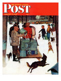 """Maple Syrup Time in Vermont "" Saturday Evening Post Cover  February 17  1945"