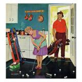 """""""Putting Around in the Kitchen,"""" September 3, 1960 Giclée par Richard Sargent"""