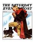 """Re-print of ""George Washington at Valley Forge"" "" Saturday Evening Post Cover  November 1  1975"