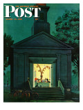 """Choir Practice "" Saturday Evening Post Cover  August 10  1946"