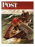 """Lobstermen "" Saturday Evening Post Cover  March 9  1946"