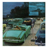 """""""Drive-In Movies,"""" August 19, 1961 Giclée par George Hughes"""