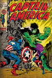 Marvel Comics Retro: Captain America Comic Book Cover No110  with the Hulk and Bucky (aged)