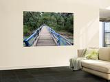 Wooden Swing Bridge at Dray Sap Waterfall