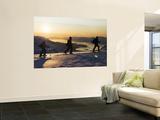 Skiers on Peak of Daltinden at Night Time in Midnight Sun