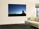 Man Cycle Touring at Dawn